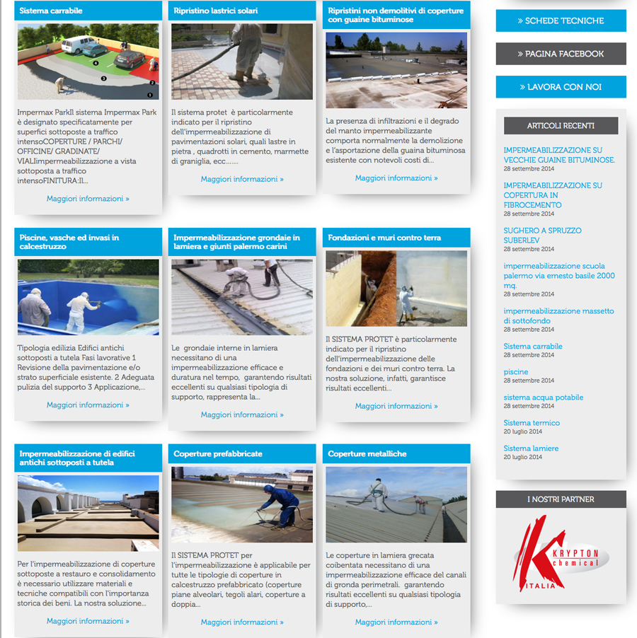 Realizzazione sito web protet diacomm for Sito web di progettazione edilizia